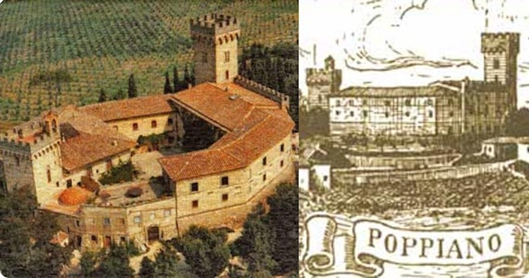 Castle of Poppiano near Montespertoli