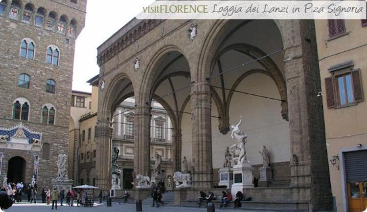 Loggia dei Lanzi in Piazza della Signoria, Firenze