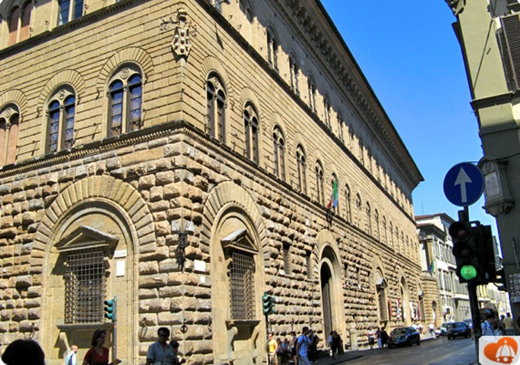 Palazzo medici riccardi as we see it today is a much larger