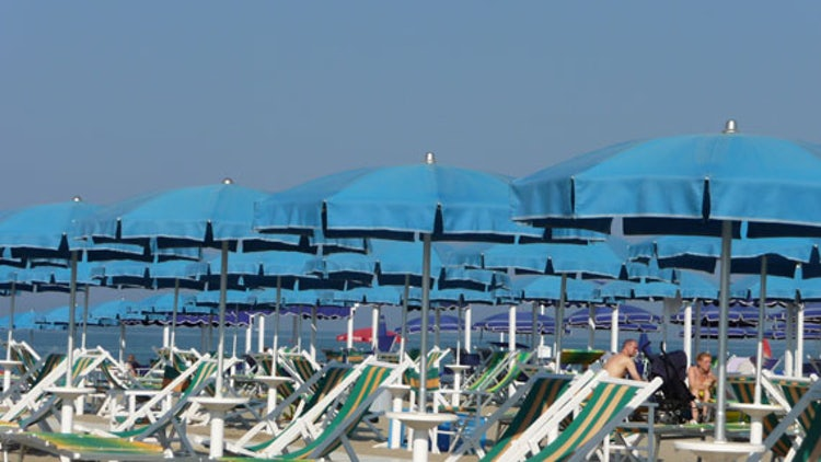 Sunbeds and Umbrellas at Versilia