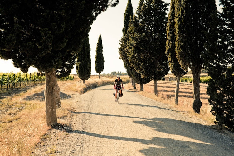 Biking in the Tuscan landscape