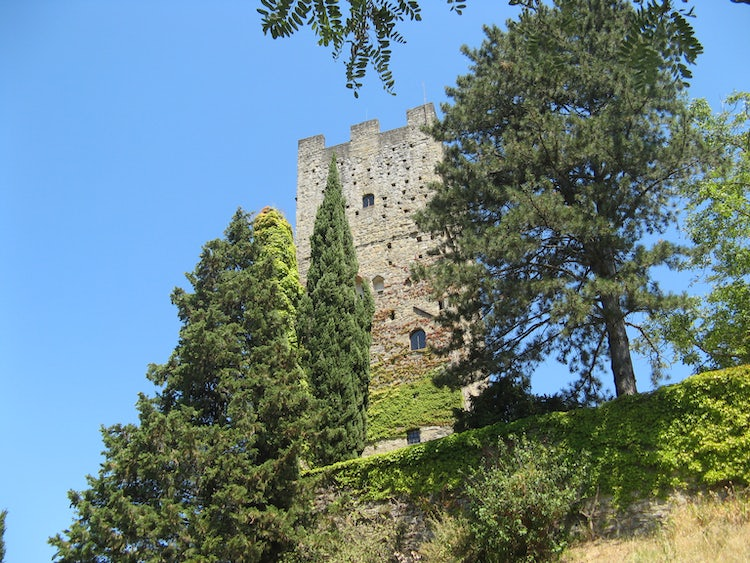 Castello Porciano above Stia in Casentino Valley