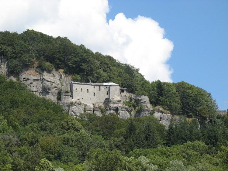 The landscape around La Verna in Casentino Valley