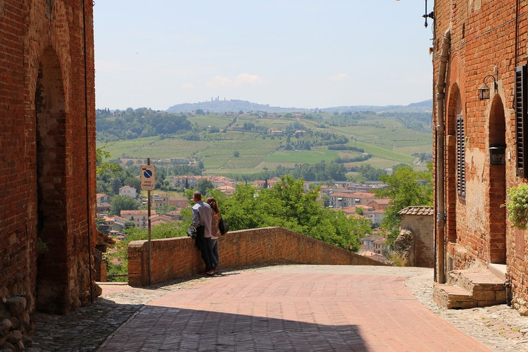 Fast day trips from San Gimignano:  Certaldo terrace view