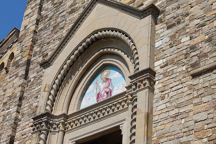 Church Detail at Barberino val d'Elsa