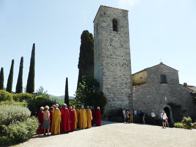 The church Spaltenna in Gaiole in Chianti