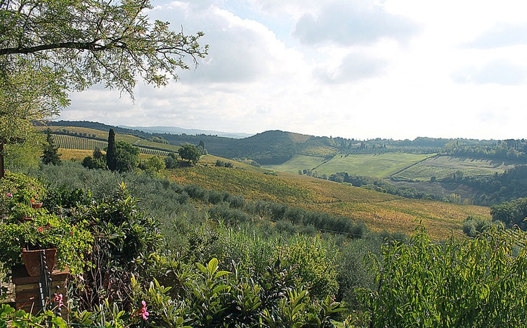 Landscape around Poggibonsi in west Chianti