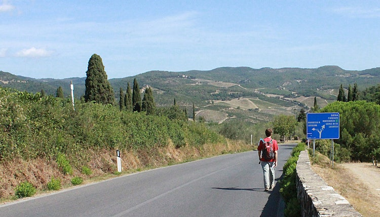 hiking in Radda in Chianti