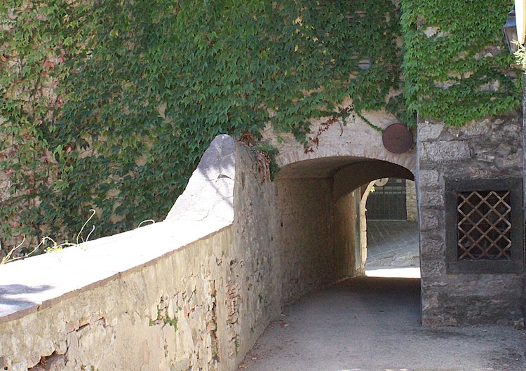 Ancient walk way in Radda in Chianti