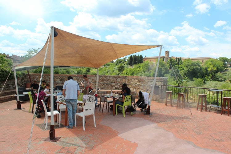 Colle Val d'Elsa: Restaurant panoramic terrace