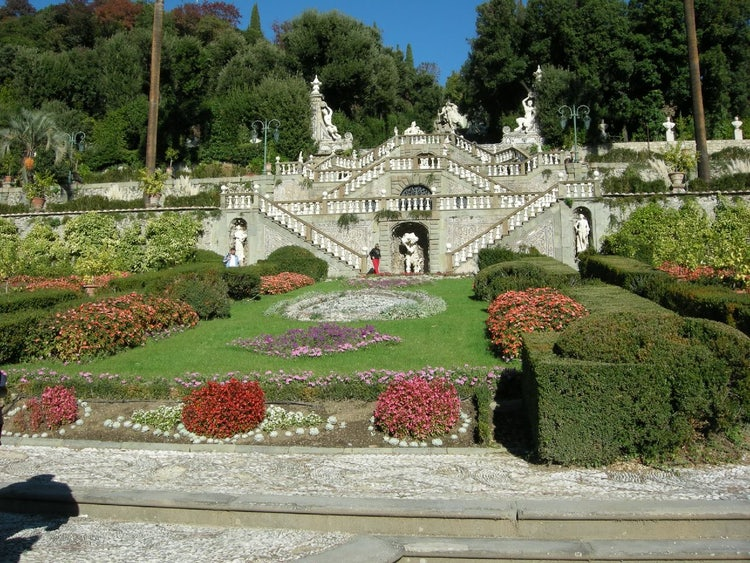 Villa Garzoni makes up part of the park for Pinochio at Collodi