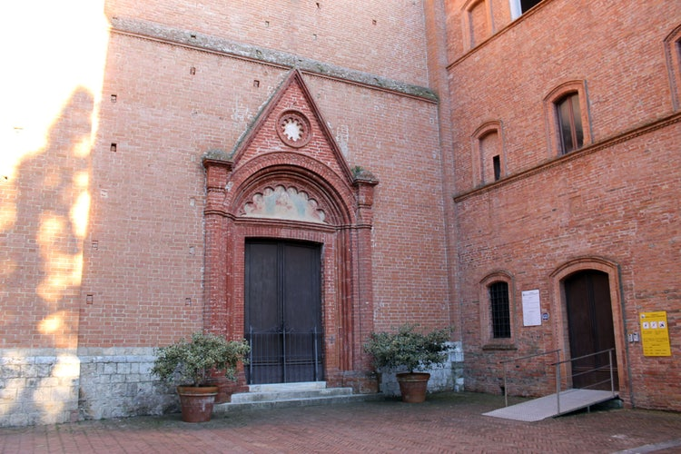 Abbey of Monte Oliveto maggiore in the Creti Senesi