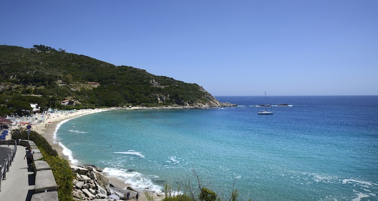 Beach Cavoli in the Island Elba Tuscany