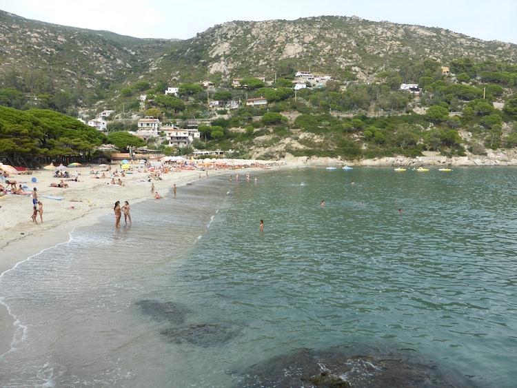 Beach Fetovaia On the Island Elba, Tuscany