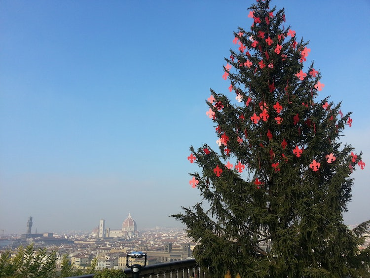 The view from Piazzale Michelangelo at Christmas time