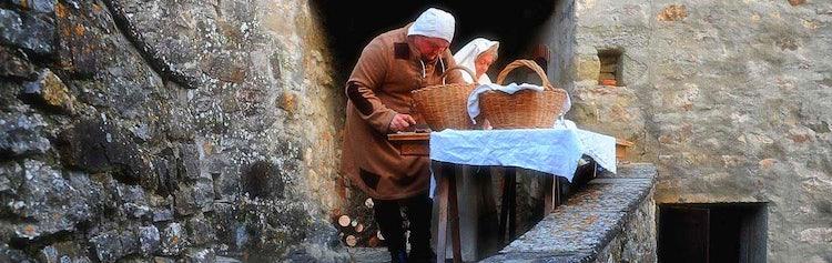A classical living nativity scene in Casentino