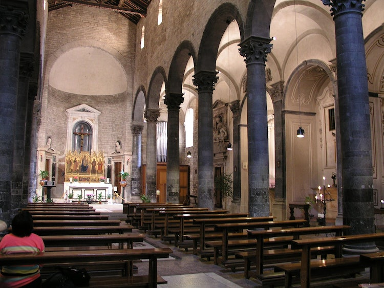 Interior of the church at Borgo S. Apostoli