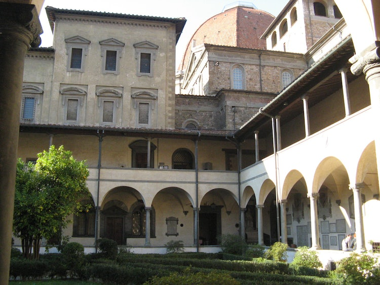 San Lorenzo Church in Florence Italy, the cloister