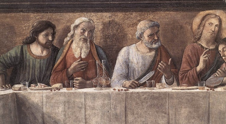 A detail of the Last Supper from Ognissanti