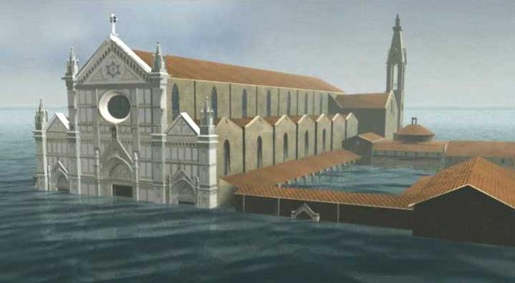 Santa Croce flood lines, Florence Tuscany