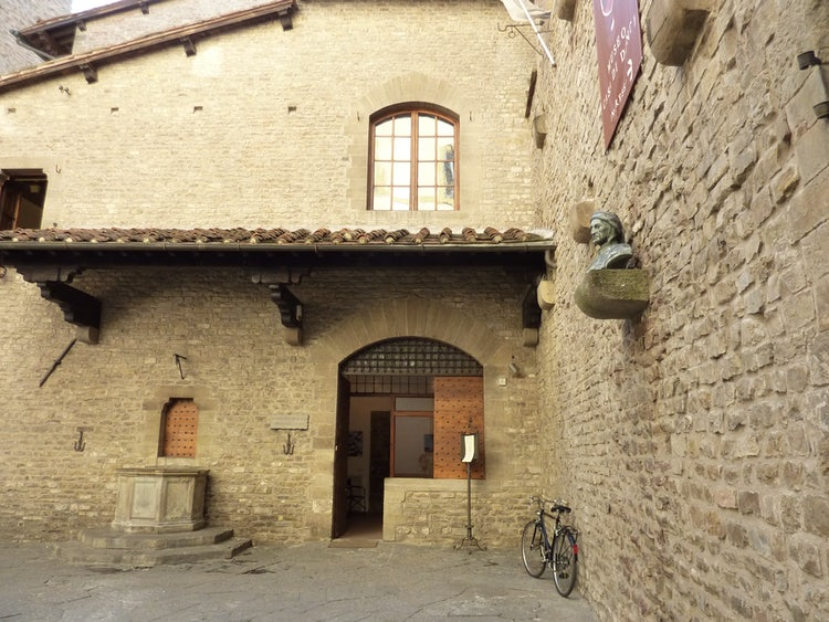 Entrance to Casa di Dante Museum in Florence, Italy
