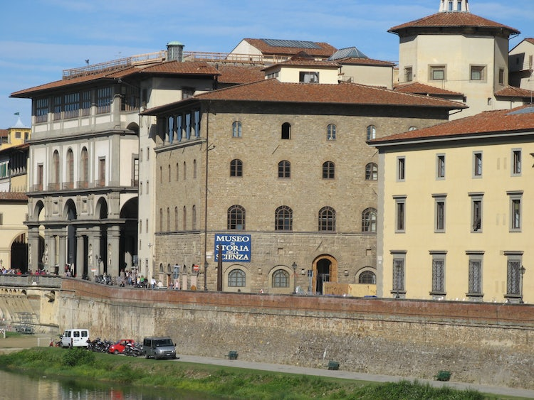 Museum Galelio was once a castle and defensive fortress along the Arno River