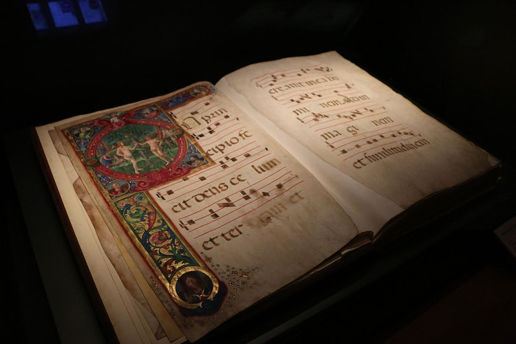 Choir book preserved in the Opera del Duomo Museum in Florence