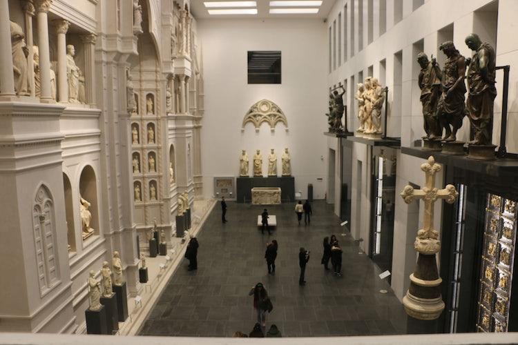 Main hall inside the Opera del Duomo Museum