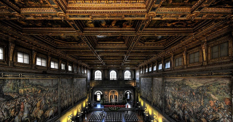 Sala Dei 500 Firenze.Palazzo Vecchio In Florence Florence S City Hall Since