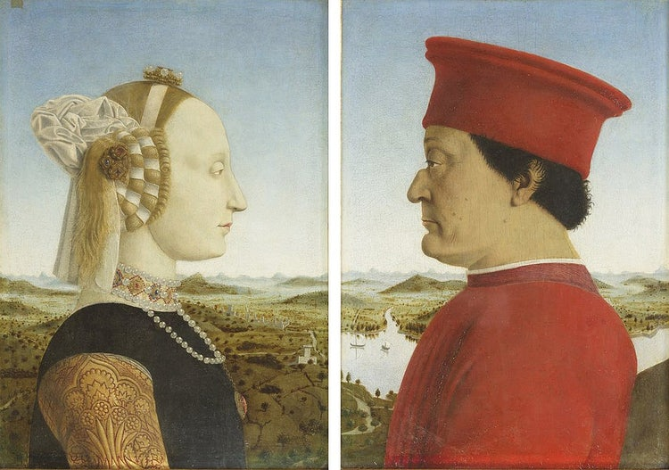 At the Uffizi, Piero della Francesca