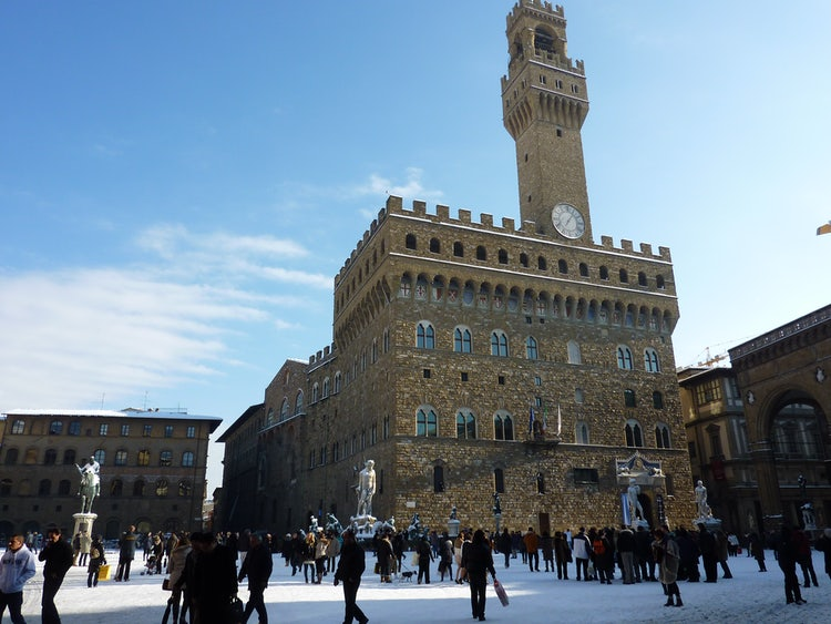 Florence, Italy under a blanket of snow
