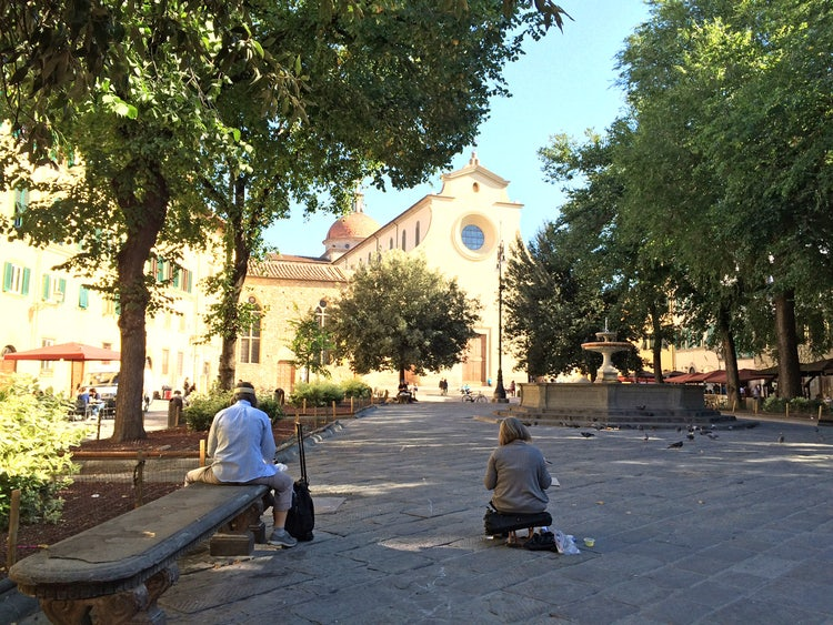 artists in piazza santo spirito