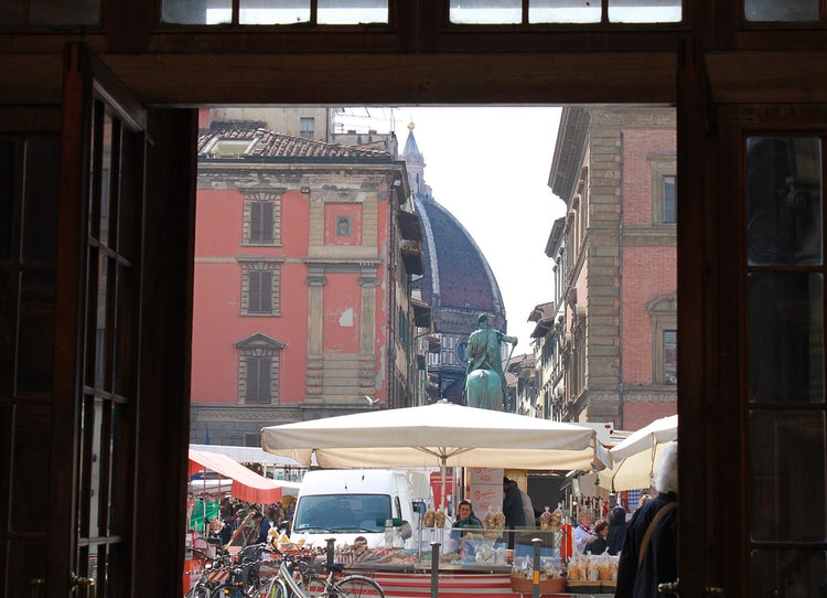 Piazza della SS Annunziata and view towards the Duomo