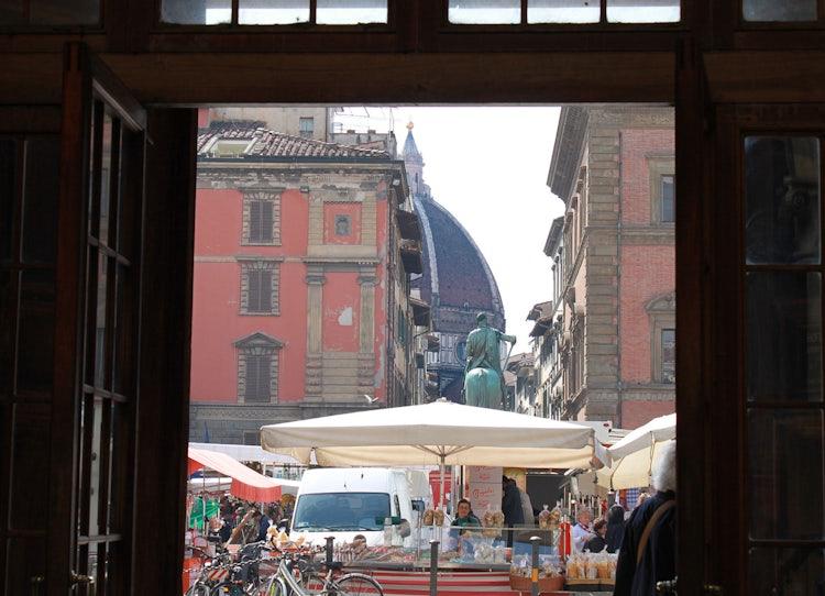 Piazza della SS Annunziata and view towards the Duomo
