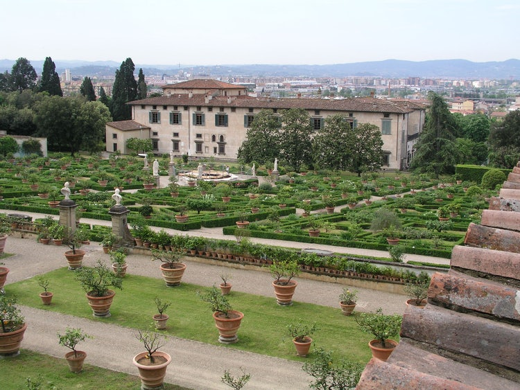 View from the gardens near Florence