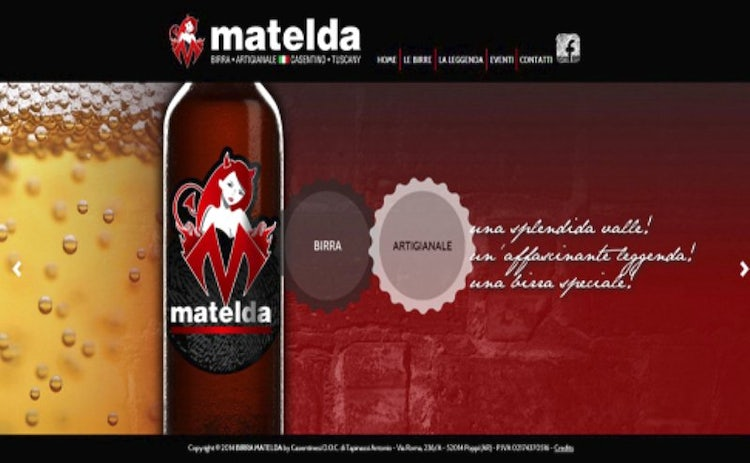 Birra Matelda craft beer in Casentino Tuscany