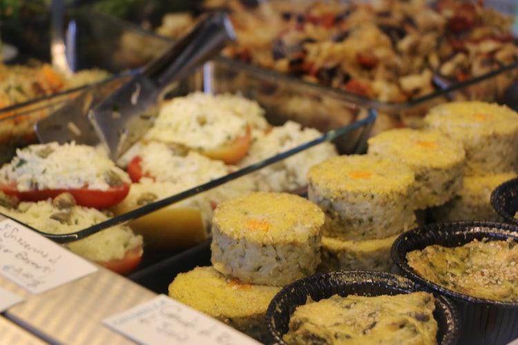 La varietà dei piatti di Giumella