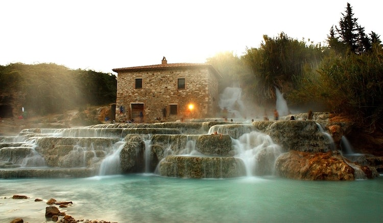 Thermal waters at Saturnia near Grosseto