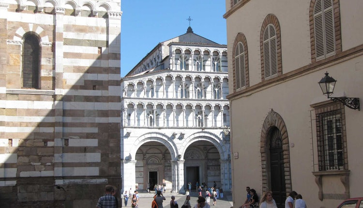 Facade of the Duomo San Martino in Lucca