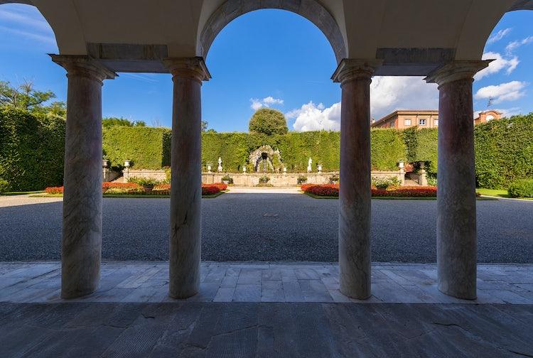 View from Villa Reale onto the Teatro dell'Acqua