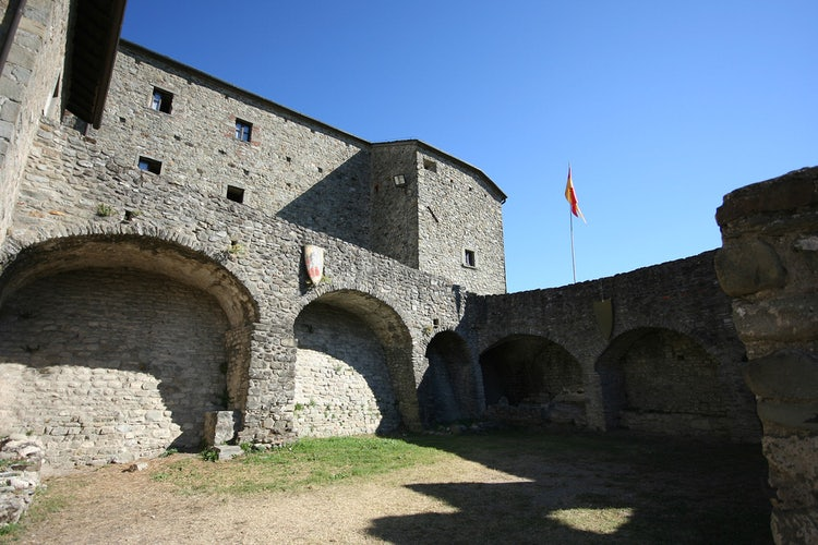 Castello courtyard in Pontremoli, in the Lunigiana area