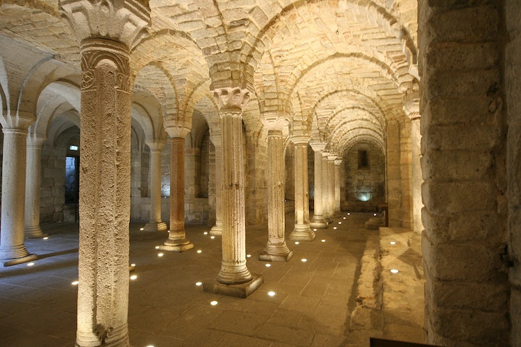 The Crypt in the Abbey of Abbadia San Salvatore, Montecucco, Maremma, Tuscany