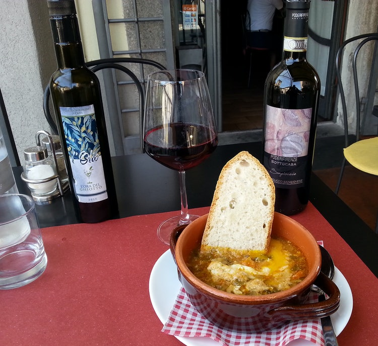 The savory Zuppa Arcidosso in the Maremma Tuscany