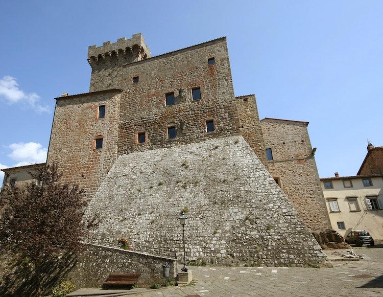 La Rocca in Arcidosso, in the area of Montecucco, Maremma, Tuscany