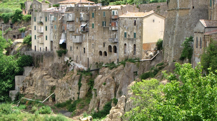 A view of Pitigliano in the Maremma, Tuscany