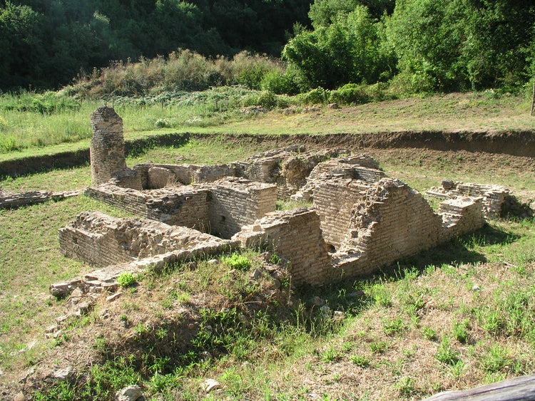 Archeological site Roselle near Grosseto in Tuscany