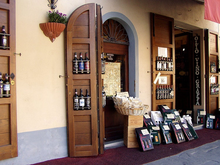 Enoteca and Wine shops in Siena