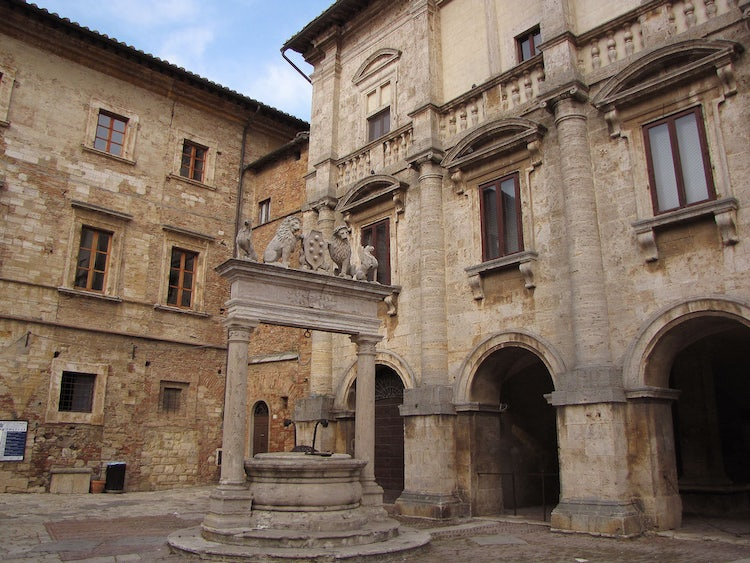 Main square in Montepulciano