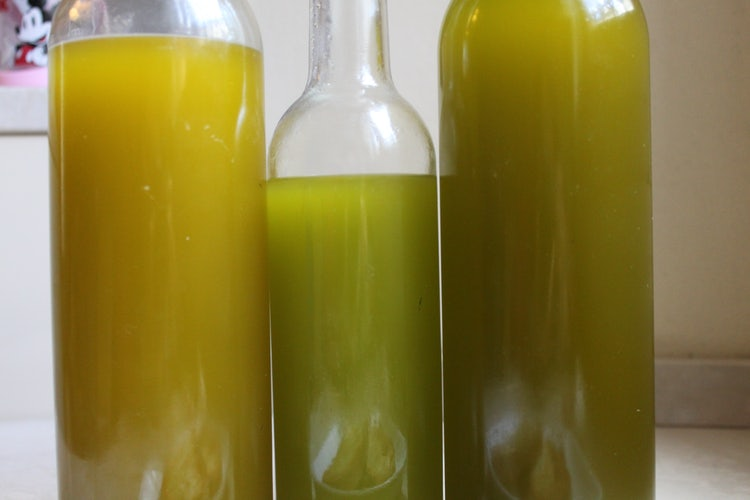 Extra virign olive oil:  in bottles