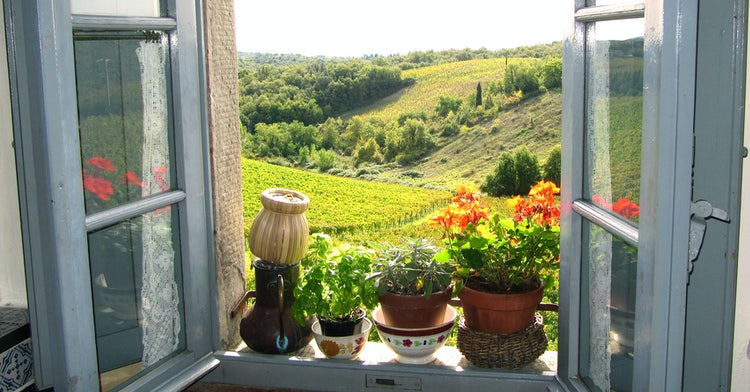 Panorama sul Chianti da Borgo Argenina